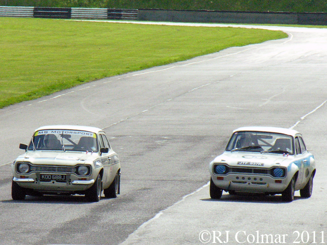 Ford Escort Mk 1&#039;s, Castle Combe, Tour Britannia