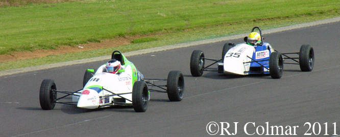 Ben Norton, #111 Spectrum 10b, Rob Hall, #35 Swift SC10, Castle Combe, BECRW