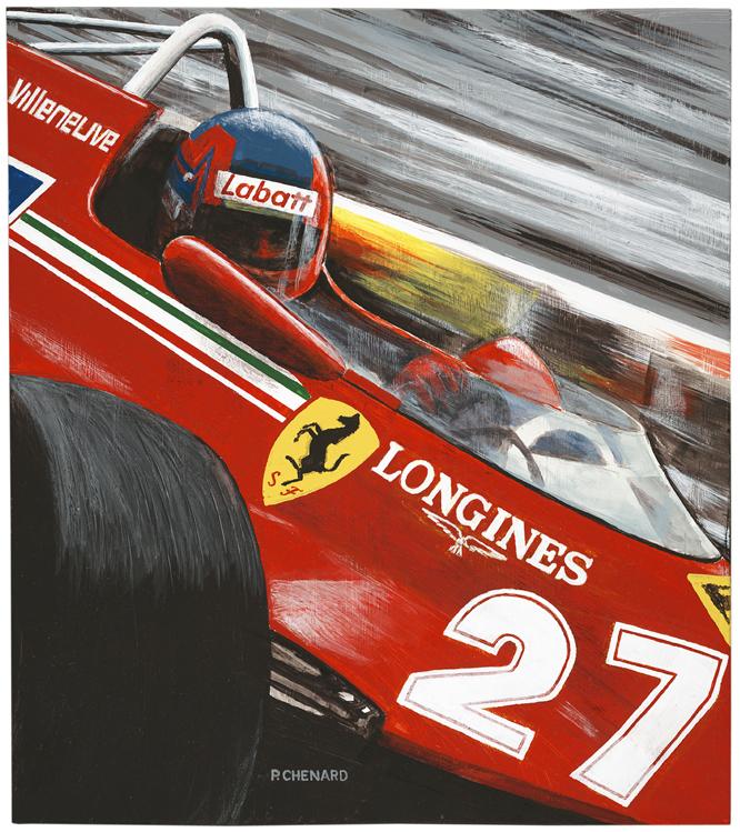 Gilles Villeneuve, Ferrari 126 CK, Monaco, 1981