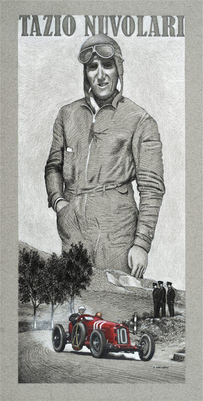 Tazio Nuvolari, Targa Florio, 1932, Paul Chenard