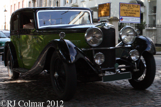 Crossley 2 litre Sports Saloon, Avenue Drivers Club, Queen Square, Bristol
