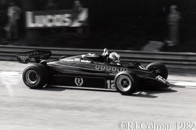 Lotus Ford 91, British Grand Prix, Brands Hatch