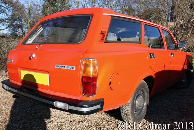 Morris Marina, Cotswolds Classic Car Club, Frogsmill, Andoversford
