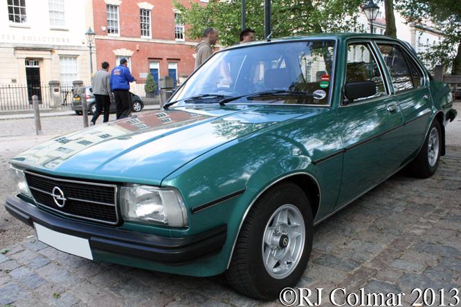 Opel Ascona DL, Avenue Drivers Club, Queen Square, Bristol