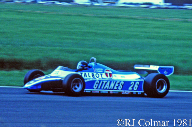 Laffite, Ligier MATRA JS 17, British Grand Prix, Silverstone