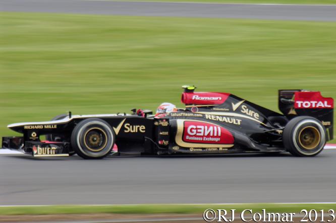 Grosjean, Lotus Renault, E21, British Grand Prix, P2, Silverstone