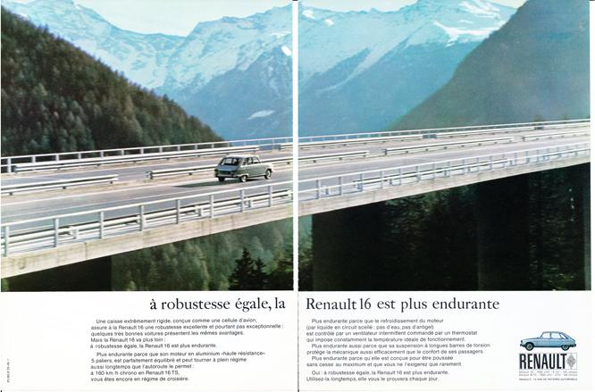 Renault 16, Advertisement, Connaissance des arts