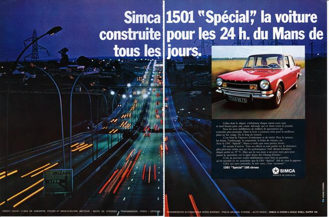 """Simca 1501 """"Special"""", Advertisement, Connaissance des arts"""