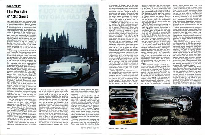 Porsche 911 SC Sport, article MotorSport Magazine, May 1978