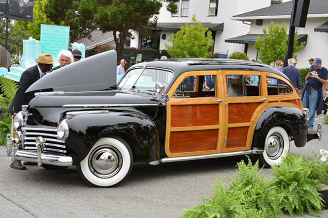 Chrysler Town & Country Barrel Back, Carmel by the sea Concours
