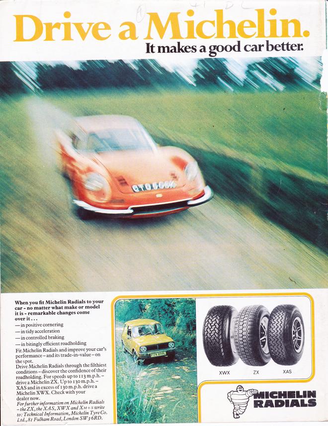 Michelin Ad, 12/73, Ferrari Dino