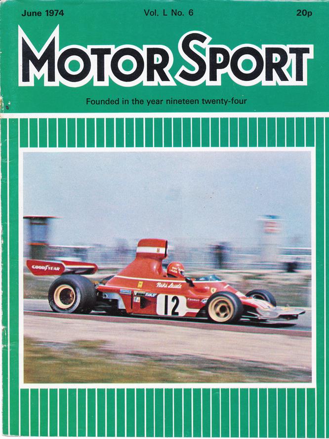 MotorSport Cover, 06/74, Niki Lauda, Ferrari 312 B3, Jarama
