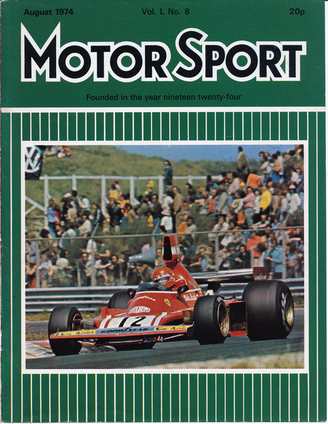 MotorSport August 1974, Niki Lauda, Ferrari 312 B3, Dutch Grand Prix