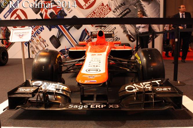 Marussia Cosworth MR02, Autosport International, NEC, Birmingham