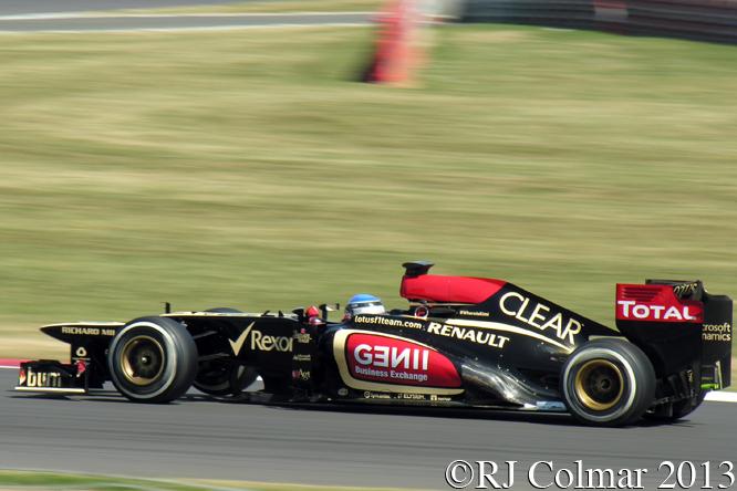 Lotus Renault E21, Prost, British Grand Prix P2, Silverstone