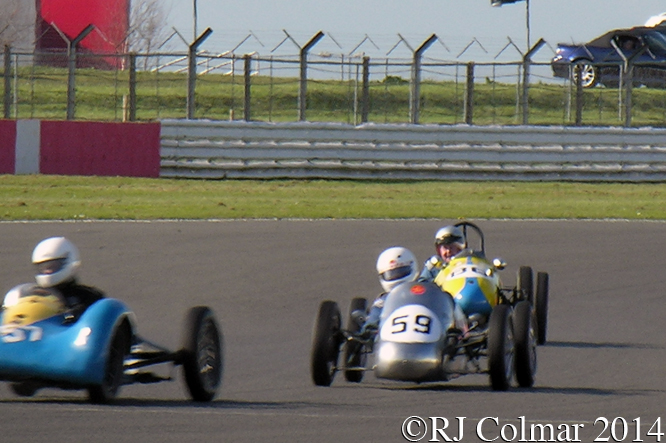 F3 500, Bishop Miller, Kingsland, Turner  VSCC Spring Start, Silverstone
