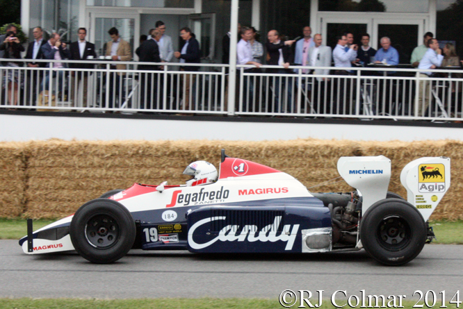 Toleman Hart TG184, Davidson, Goodwood Festival of Speed