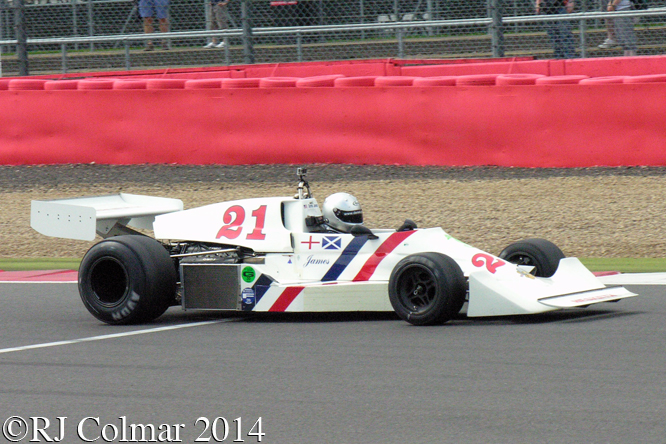Hesketh 308C, Jones, Silverstone Classic