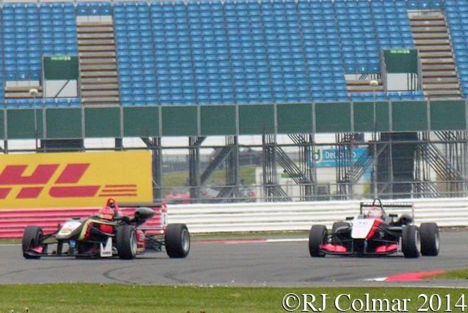 Ocon, Verstappen, Dallara F312, Silverstone