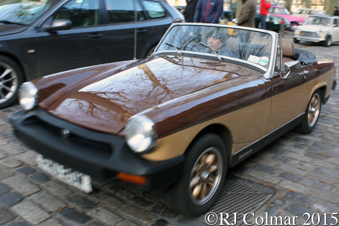 MG Midget, Avenue Drivers Club, Queen Square, Bristol,