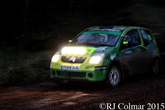 Citroën C2 VTR, Dan Moss, Sam Allen, Mailscot, Wyedean Forest Rally,