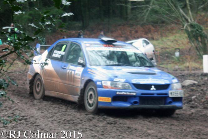 Mitsubishi EVO IX, Thompson, Murphy, Blaze Bailey, Wyedean Rally,