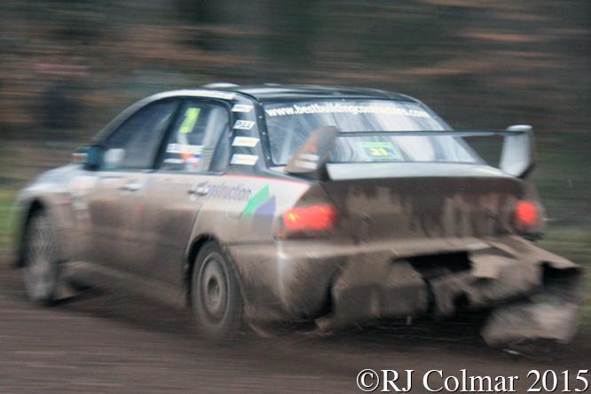 Mitsubishi EVO IX, Elsmore, Edwards, Mailscot, Wyedean Rally,