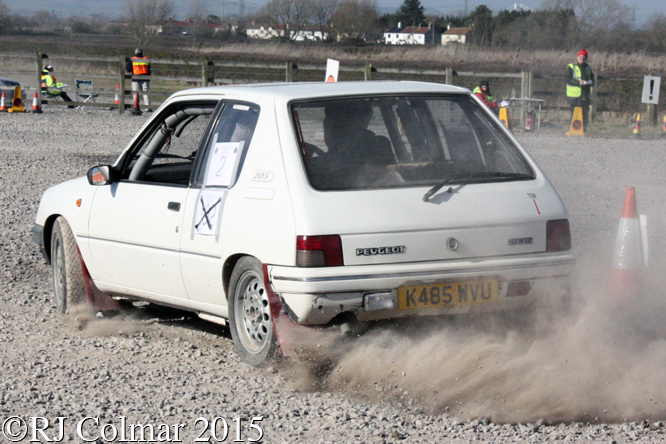 Peugeot 205 Rallye, McLachlan/Baverstock, Tavern Motor Club Washingpool Targa Rally,