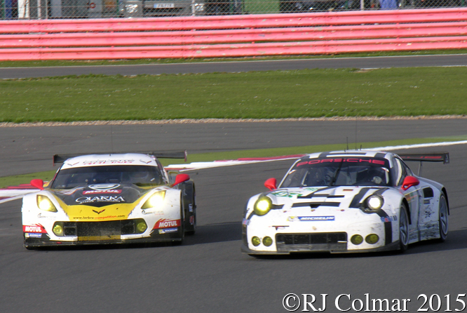 Porsche 911 RSR, Chevrolet Corvette C7, 6 Hours Of Silverstone