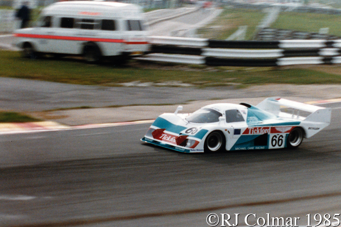 EMKA C84/1, Tiff Needell, Mark Galvin, Steve O'Rourke, Brands Hatch, 1000 kms