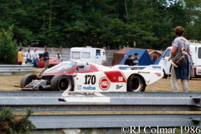 #120 Mazda 757, David Kennedy, Mark Galvin, Pierre Dieudonné, 24 Heures du Mans, Le Mans,