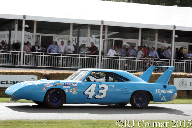 Plymouth Superbird, Kenny Brack, Goodwood Festival of Speed,