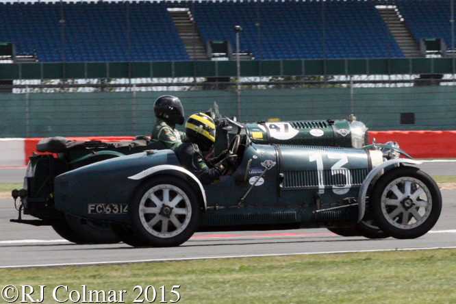 Bugatti T35, Duncan Pittaway, Bentley Blower, J Ernst, Silverstone Classic,