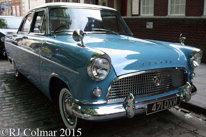 Ford Consul, Avenue Drivers Club, Queen Square, Bristol