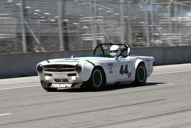 Triumph TR6, Bill Warner, Rolex Motorsports Reunion, Laguna Seca