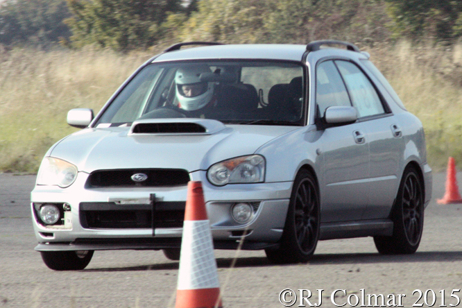 Subaru Impreza WRX Turbo Hatchback, Tim Morrison, Hertfordshire County Auto & Aero Club, Autumn Sprint, Debden Airfield, Essex