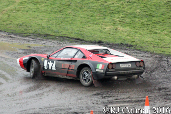 Ferrari 308 Michelotto Gr.4, Neil McMahon, Dave Mellett, MGJ Engineering Winter Stages Rally, Brands Hatch