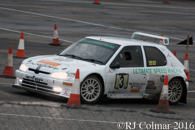 Peugeot 306 Maxi, Chris West, Steve McNulty, MGJ Engineering Winter Stages Rally, Brands Hatch