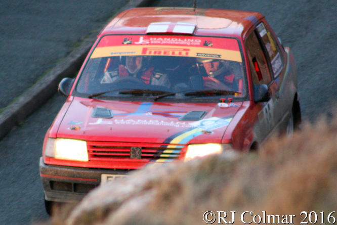 Peugeot 309 GTi, Tim Cains, Richard May, Great Orme, Cambrian Rally,