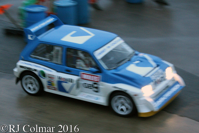 MG Metro 6R4, Driver Unkown, Legend Fires North West Stages, Blackpool Promenade,