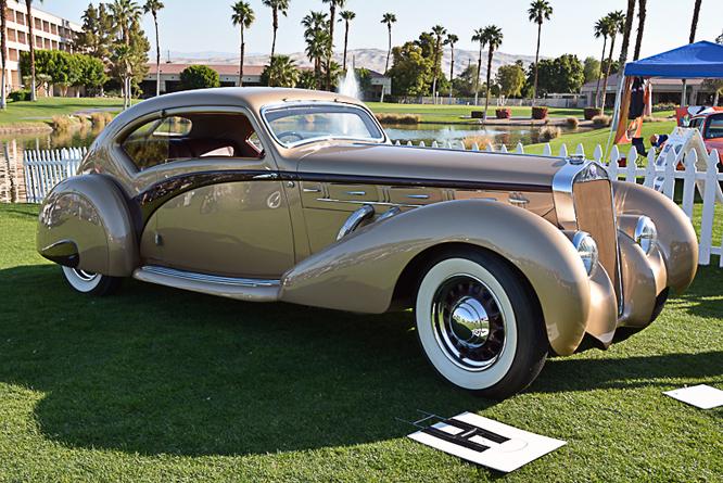 Delage D8 120 Letourneur & Marchand Aerosport Coupé, Desert Classic Concours d'Elegance, Palm Springs