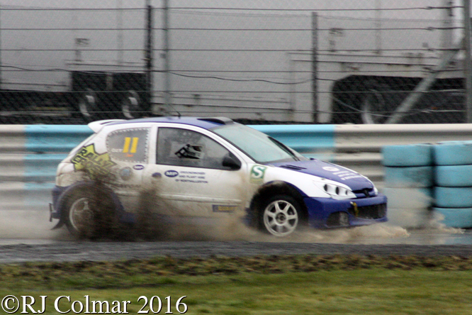 Peugeot 206, Guy  Corner, Odyssey Battery, MSA Rally Cross Championship, Pembrey