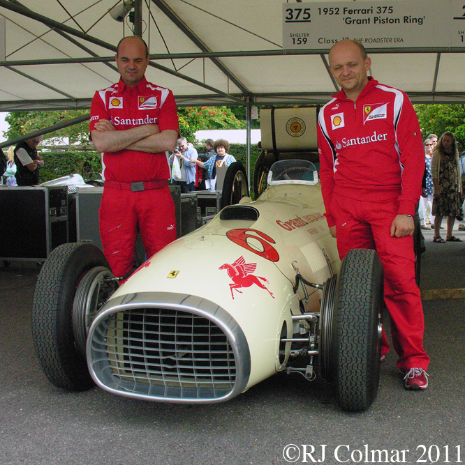 Grant King Piston Ring Special Ferrari 375, Goodwood FoS