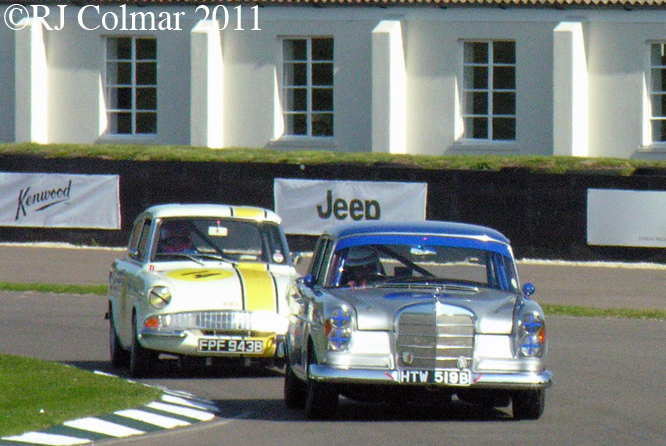 Brian Redman, Mercedes Benz 300 SE, Tiff Needel, Ford Anglia, Goodwood Revival