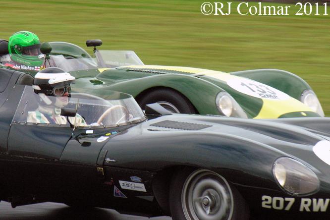 D-Type Jaguar, Knobbly, Lister Jaguar, Gold Cup, Oulton Park