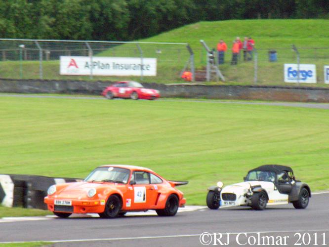 Porsche 911 RSR, Caterham 7, Castle Combe, Tour Britannia