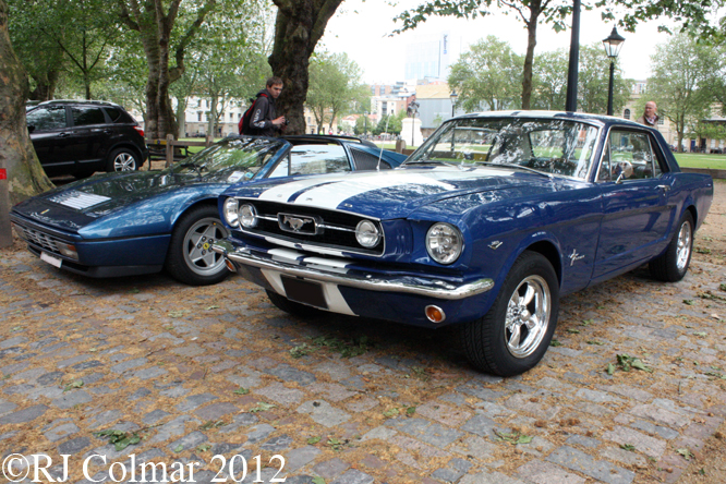 Ford Mustang, Ferrari 328 GTS, Avenue Drivers Club, Queens Square, Bristol