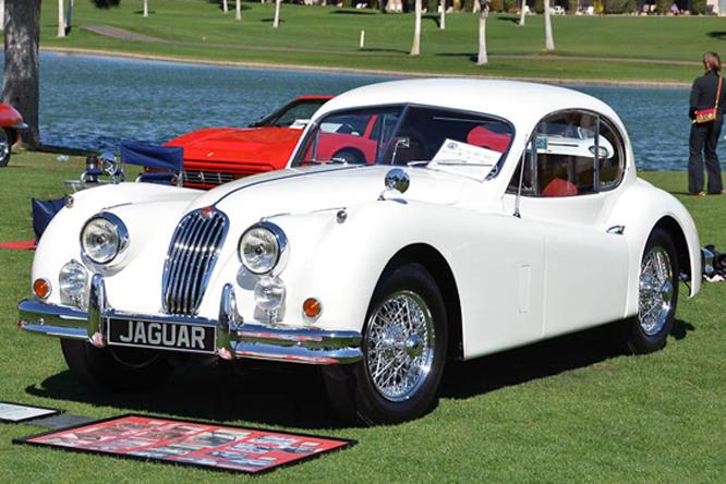 Jaguar XK 140 FHC SE, Desert Classic Concours d'Elegance, Palm Springs, CA