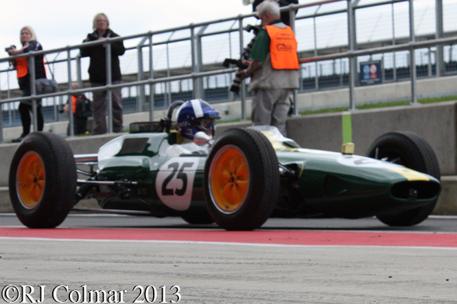 Coultard, Lotus 25, Silverstone Classic, Silvertsone