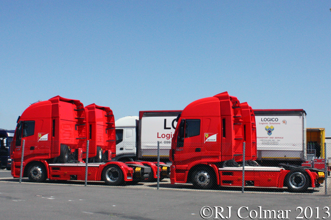Ferrari Trucks, Young Driver Test, Silverstone